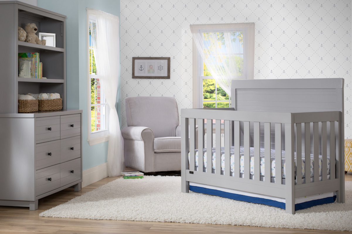 Simmons Kids Rowen 4 Piece Nursery Set - Grey