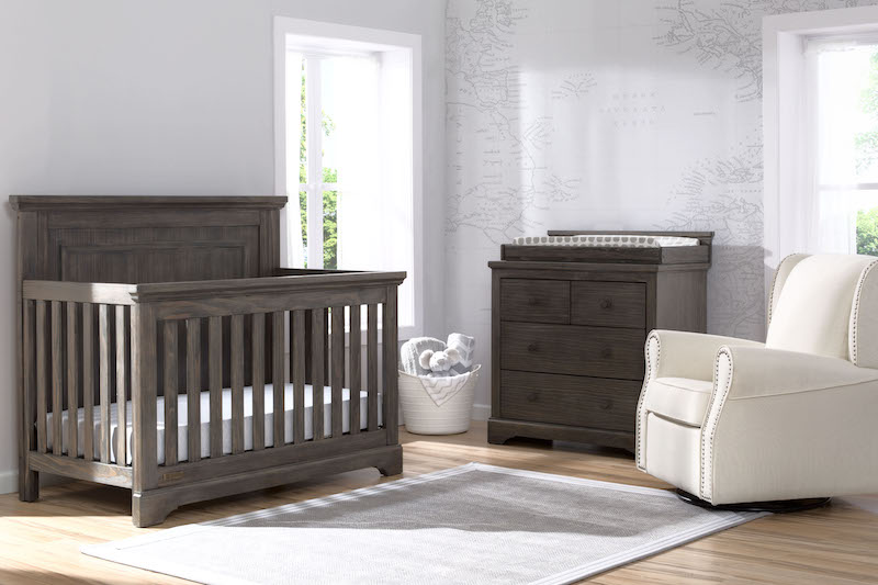 Simmons Kids Paloma 4 Piece Nursery Set - Rustic Grey