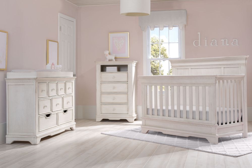 Simmons Kids Tivoli 6 Piece Baby Furniture Set - Antique White