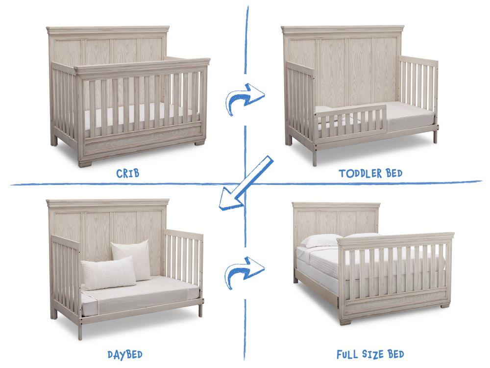 Simmons Kids Ravello 5 Piece Baby Furniture Set Antique