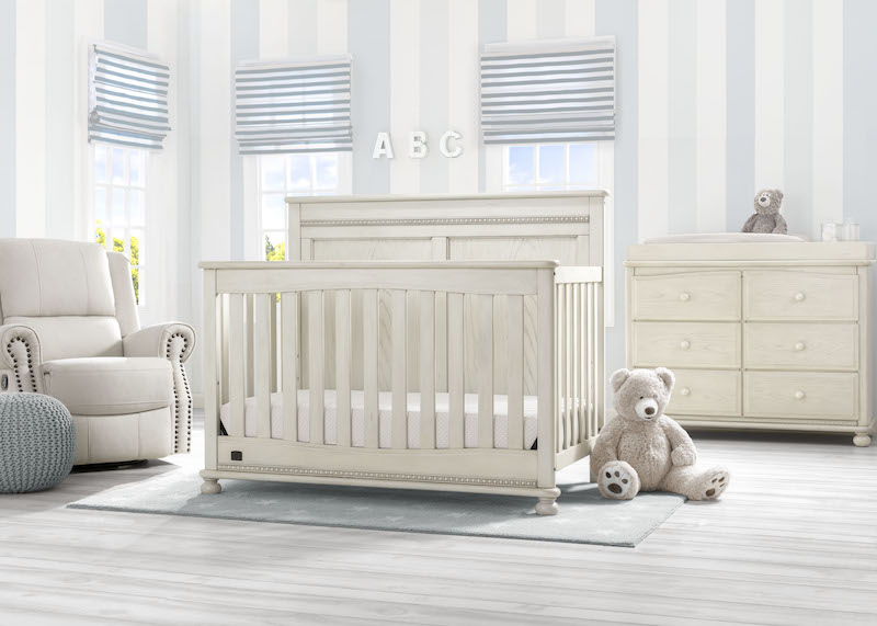 Simmons Kids Fontana 5 Piece Nursery Set - Antique White