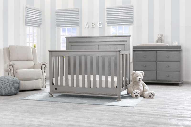 Simmons Kids Fontana 5 Piece Nursery Set - Storm