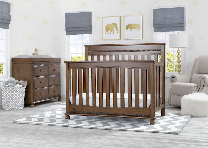 Simmons Kids Franklin 5 Piece Nursery Set - Antique Chestnut