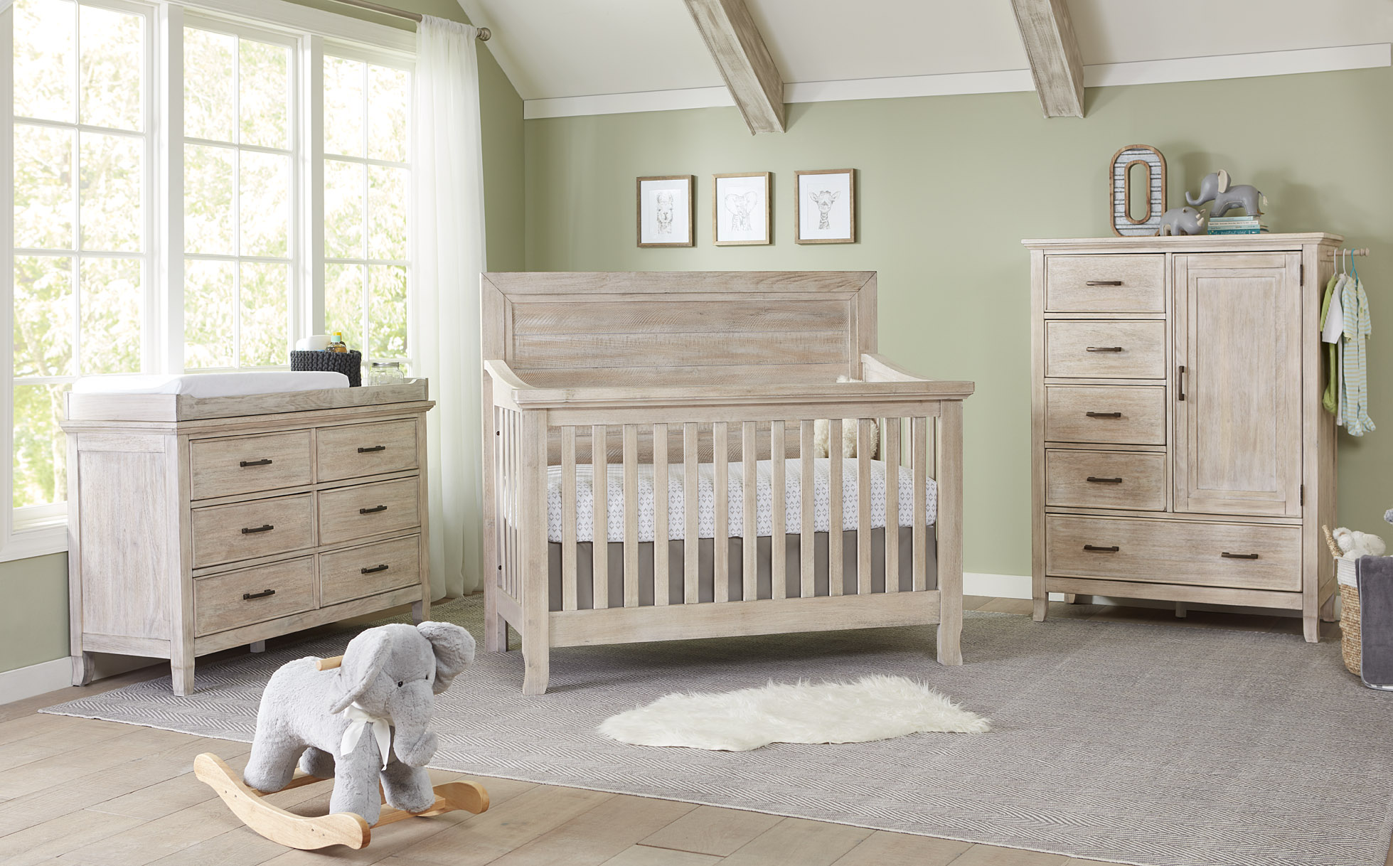 Stella Baby Remi Flat Top Crib and Dressers - Sugarcoat