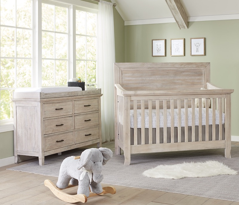 Stella Baby Remi Flat Top Crib and Dresser - Sugarcoat