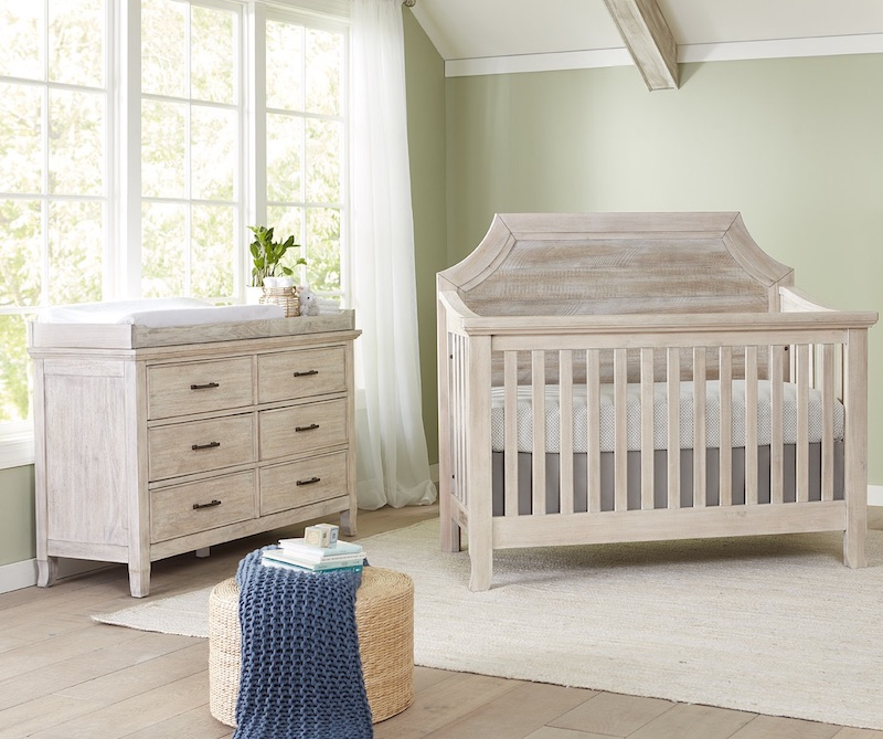 Stella Baby Remi Pagoda Crib and Dresser - Sugarcoat