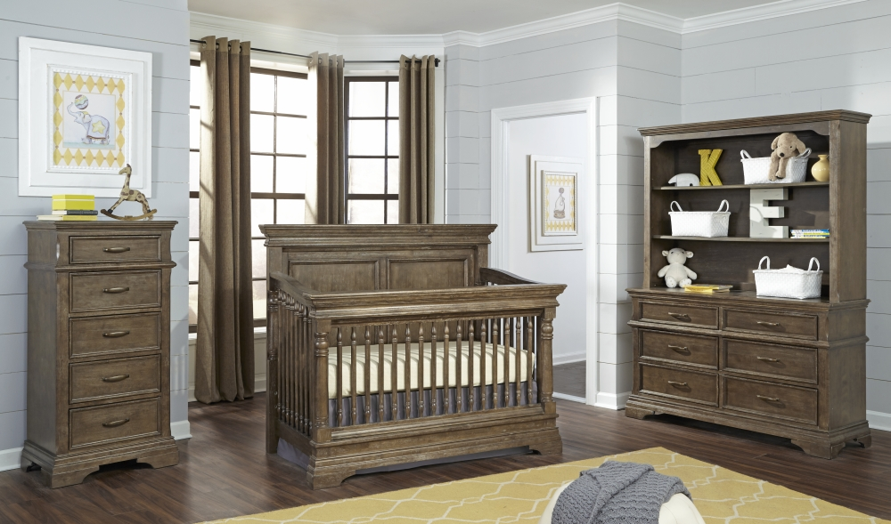Stella Baby Kerrigan Crib and Dressers - Cafe au Lait