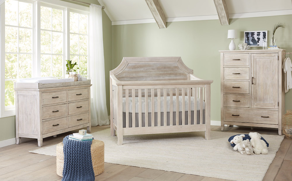 Stella Baby Remi Clip Crib and Dressers - Sugarcoat