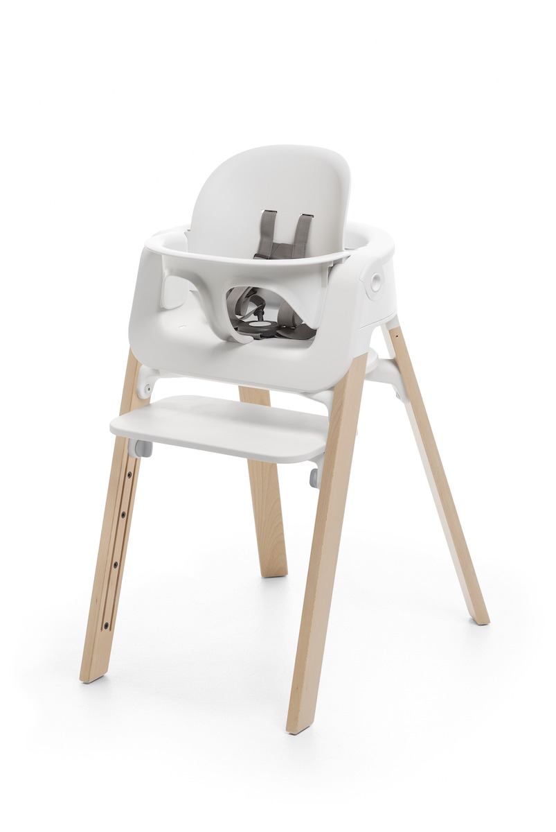 Stokke Steps Highchair - Natural Legs w/ White Seat