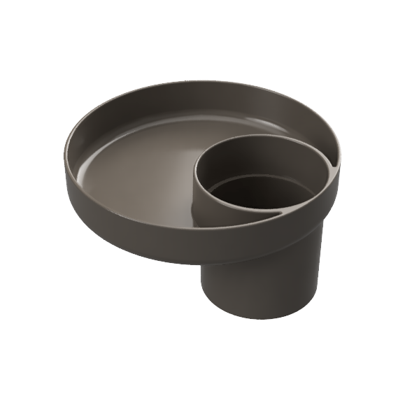 My Travel Tray Universal Child Cup and Food Tray - Charcoal
