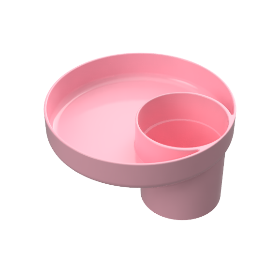 My Travel Tray Universal Child Cup and Food Tray - Pink