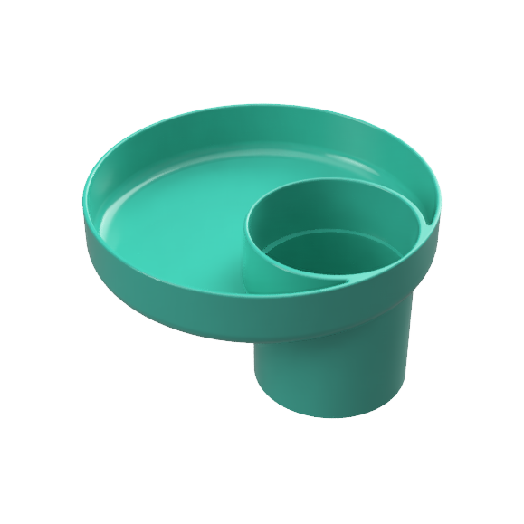 My Travel Tray Universal Child Cup and Food Tray - Teal