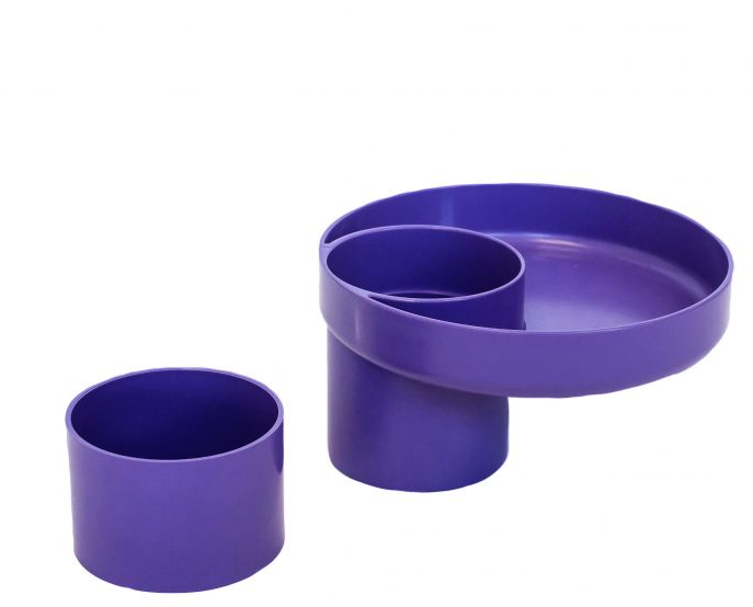 My Travel Tray Universal Child Cup and Food Tray - Violet