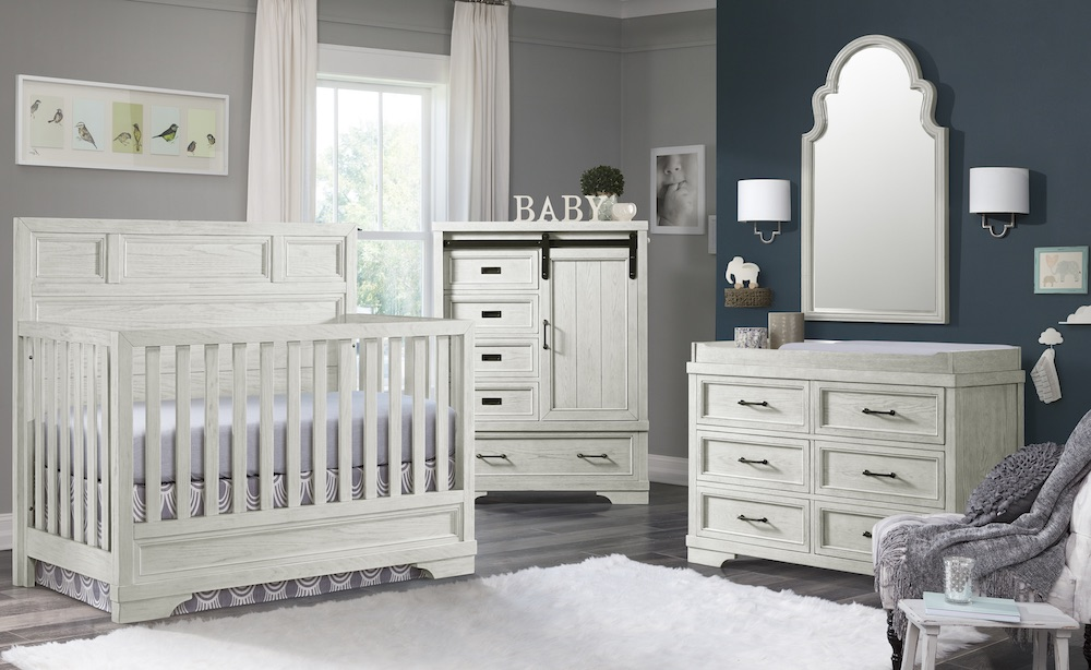 Westwood Design Foundry Crib and Double Dresser - White Dove