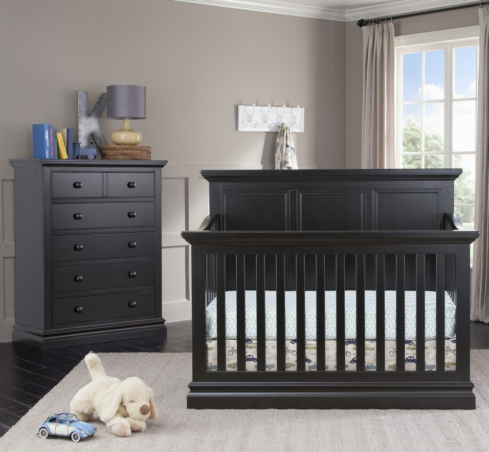 Westwood Design Pine Ridge Convertible Crib and Chest, Black