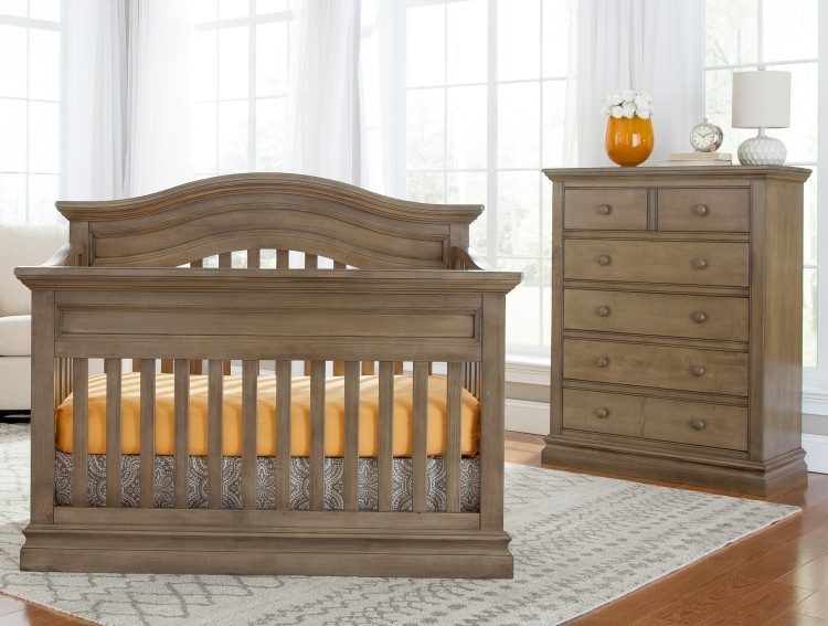 Westwood Design Stone Harbor Convertible Crib and Chest, Cashew