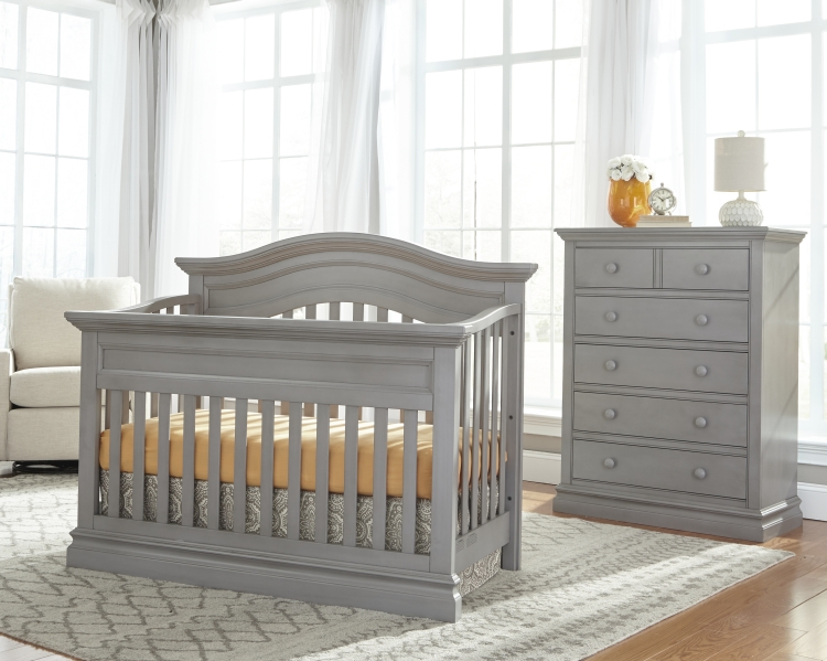 Westwood Design Stone Harbor Convertible Crib and Chest, Cloud