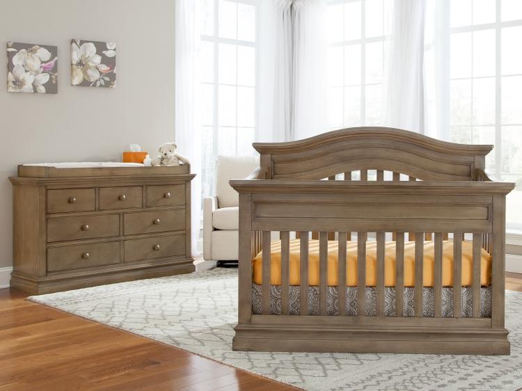 Westwood Design Stone Harbor Convertible Crib & Dresser, Cashew