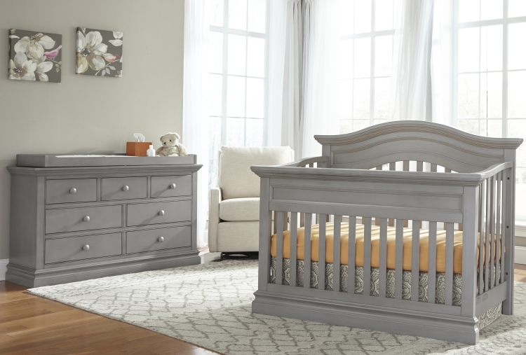 Westwood Design Stone Harbor Convertible Crib and Dresser, Cloud