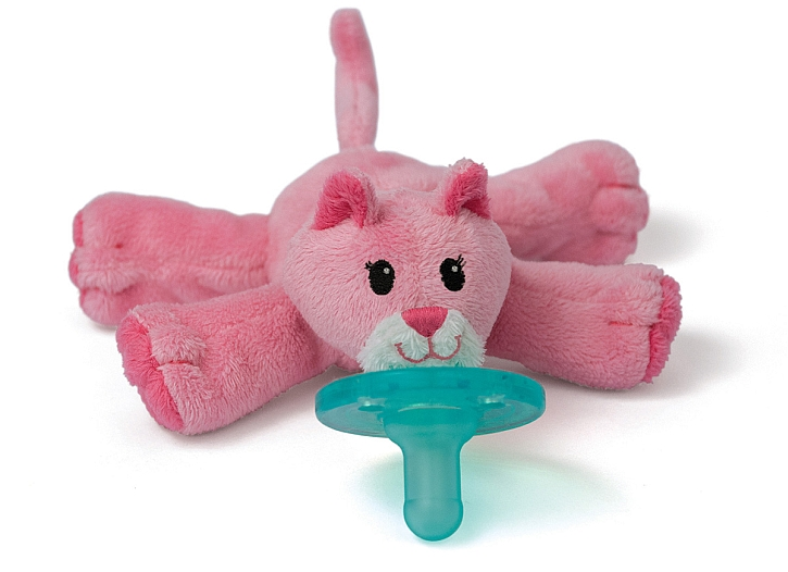 Wubbanub Bright Baby Pacifier, Pink Kitty